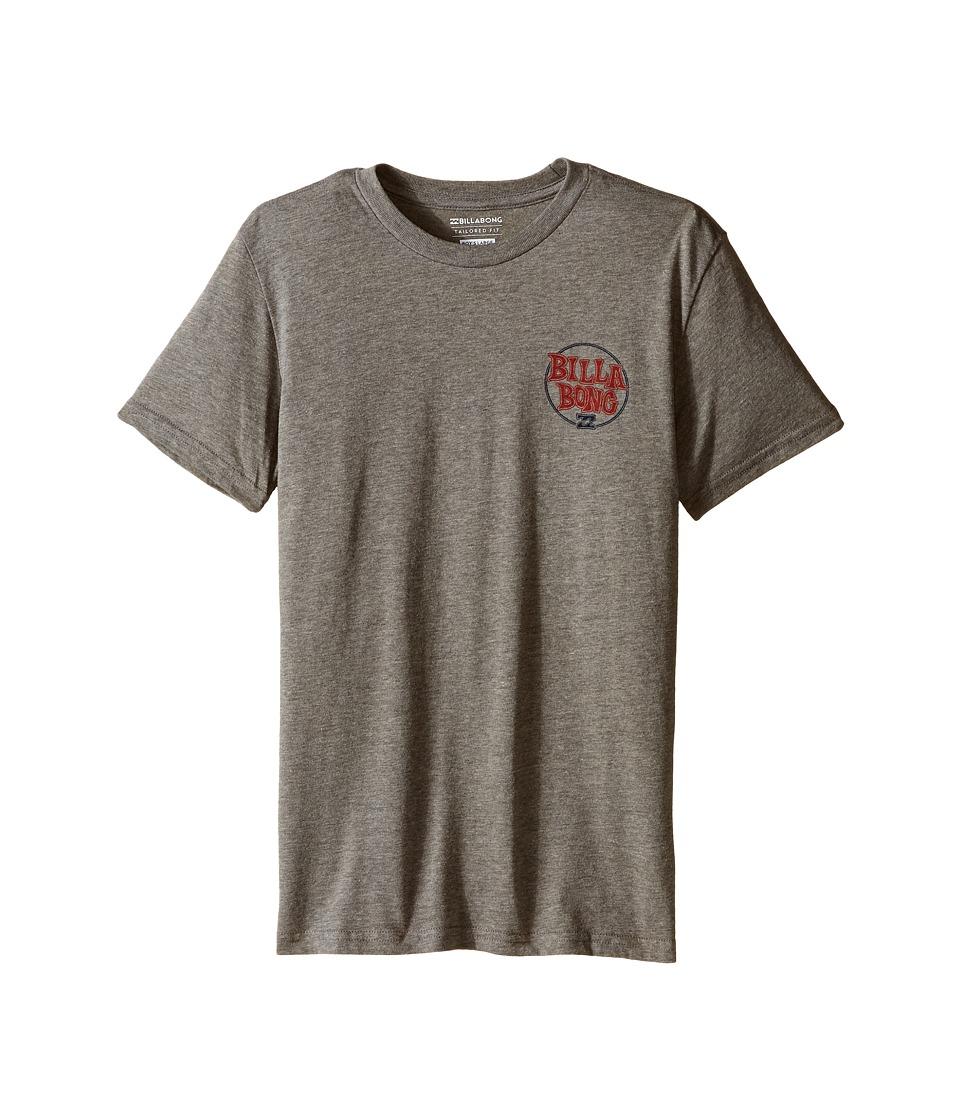 Billabong Kids - Locked T-Shirt (Big Kids) (Dark Grey Heather) Boy