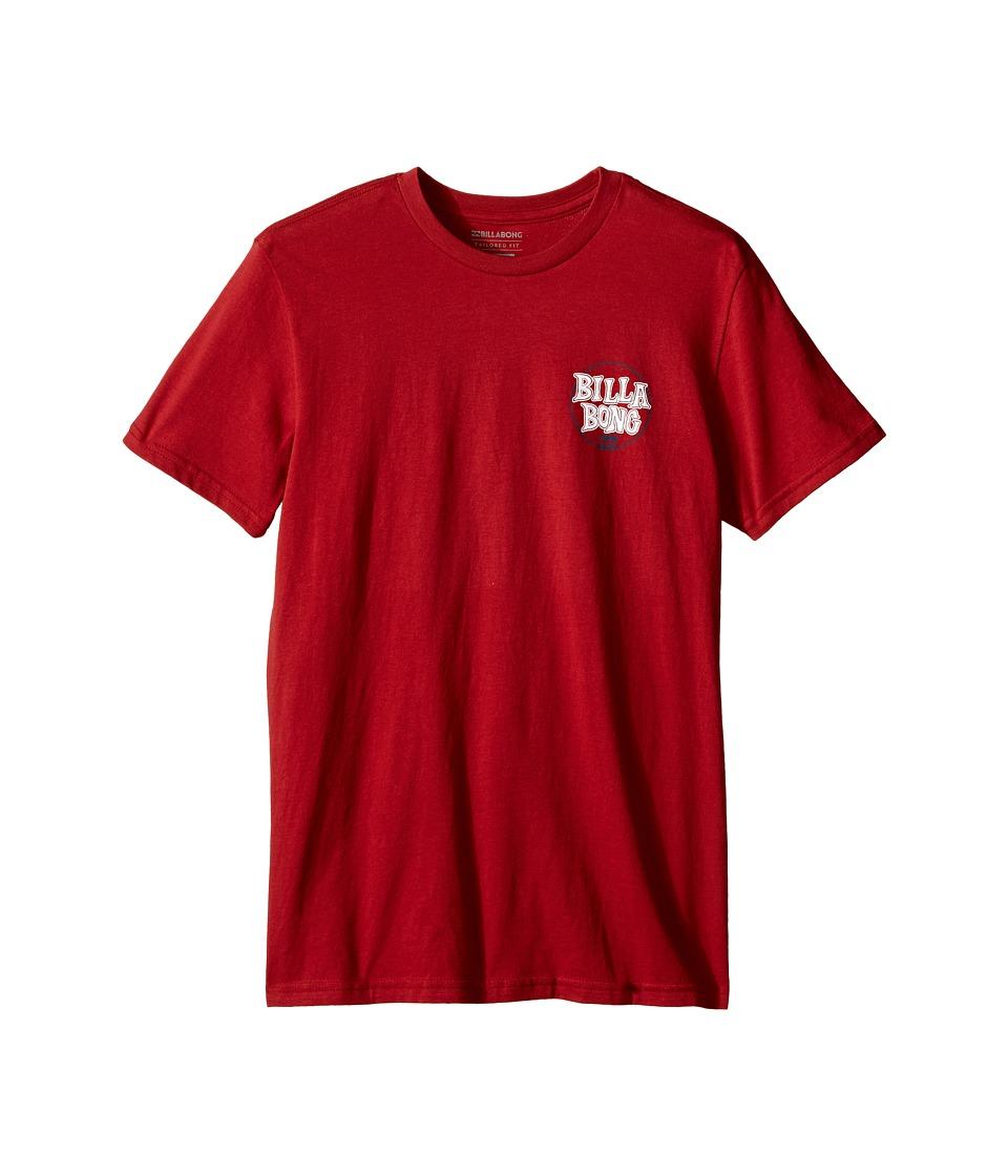 Billabong Kids - Locked T-Shirt (Big Kids) (Red) Boy