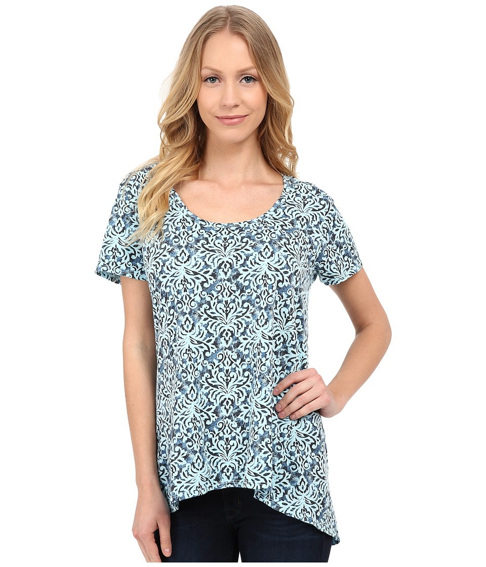 Fresh Produce - Baroque Luna Top (Swimming Pool) Women's Clothing