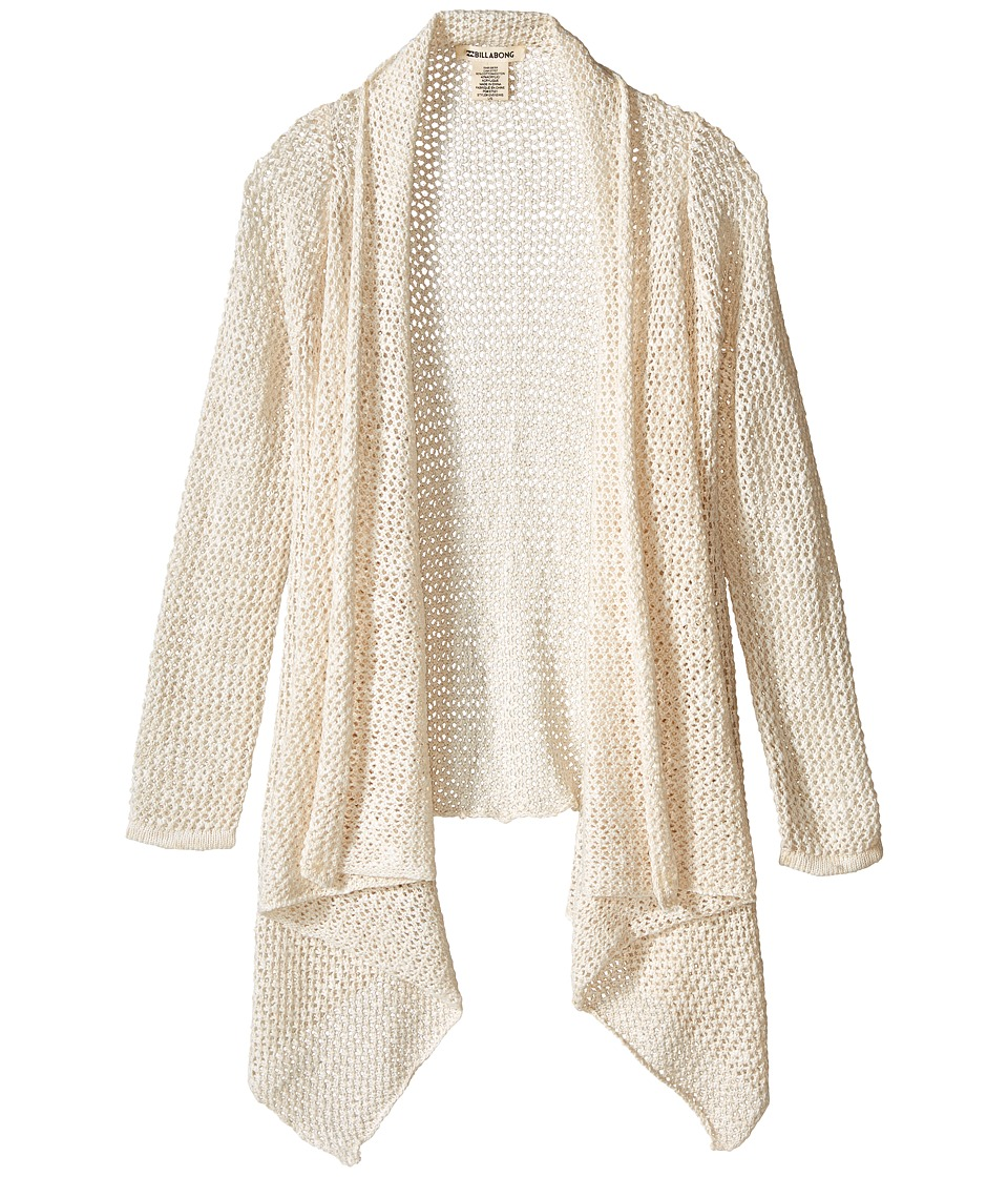 Billabong Kids - Wish Stitch Cardigan (Little Kids/Big Kids) (Cool Wip Heather) Girl's Sweater
