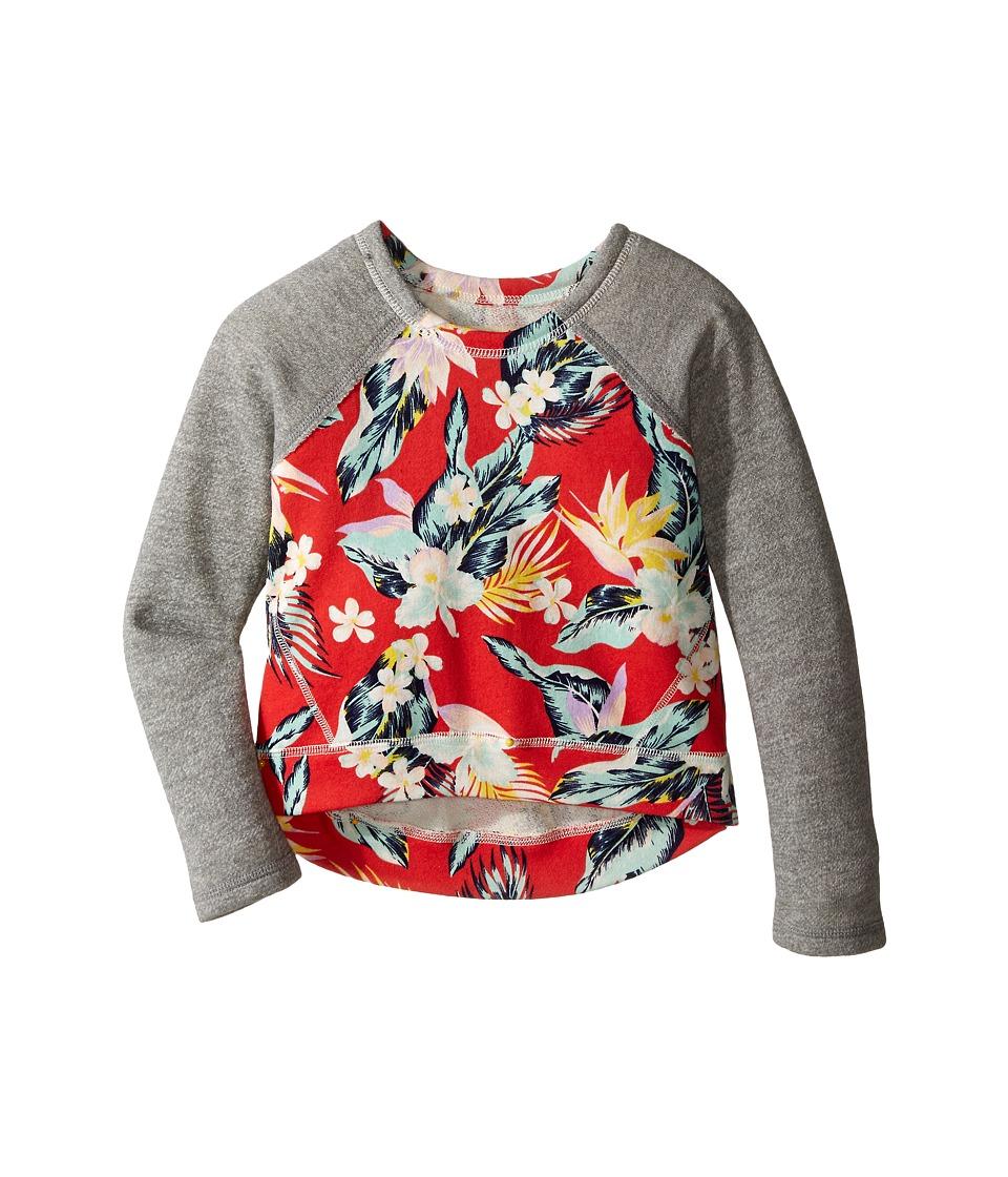 Billabong Kids - Hear Me Out Pullover Crew (Little Kids/Big Kids) (Hibiscus) Girl's Sweatshirt