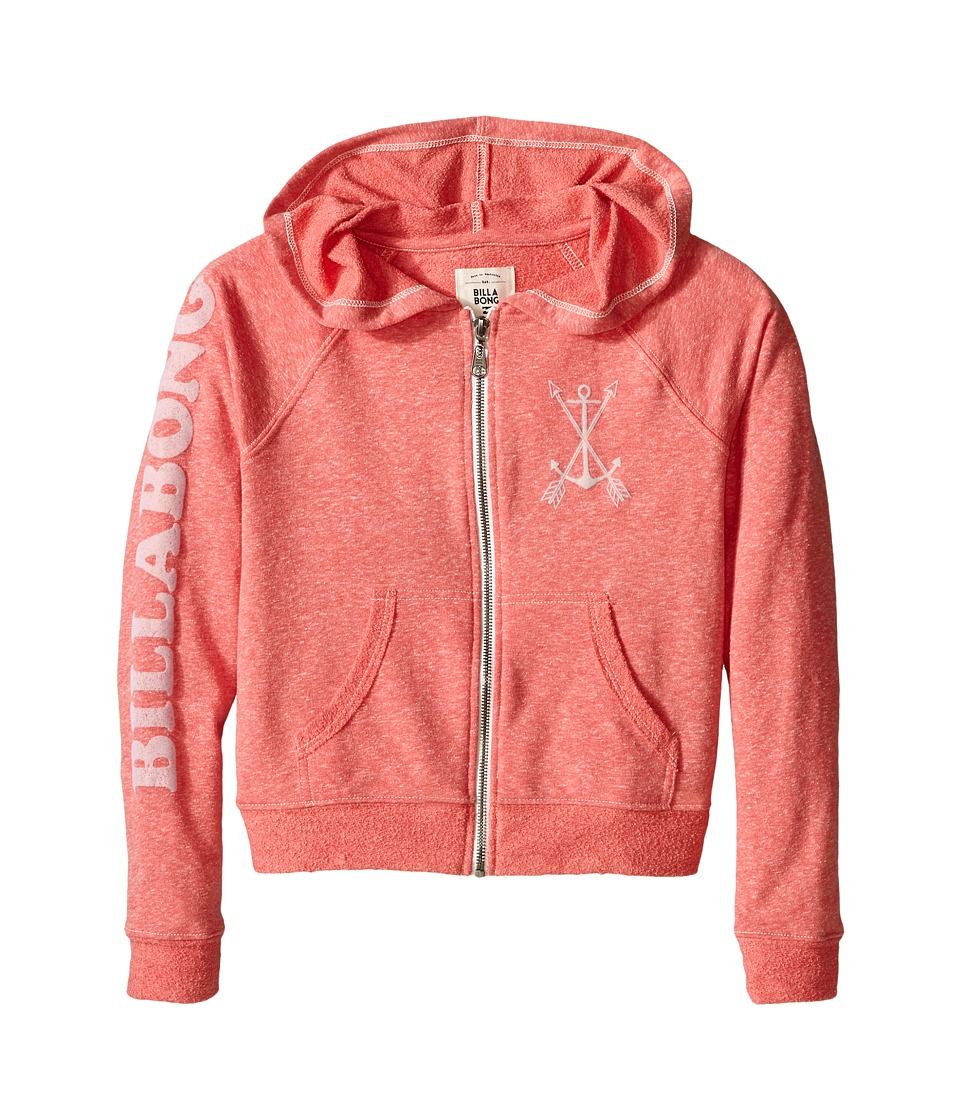 Billabong Kids - Sunshine Day Zip-Up Hoodie (Little Kids/Big Kids) (Hibiscus) Girl's Sweatshirt