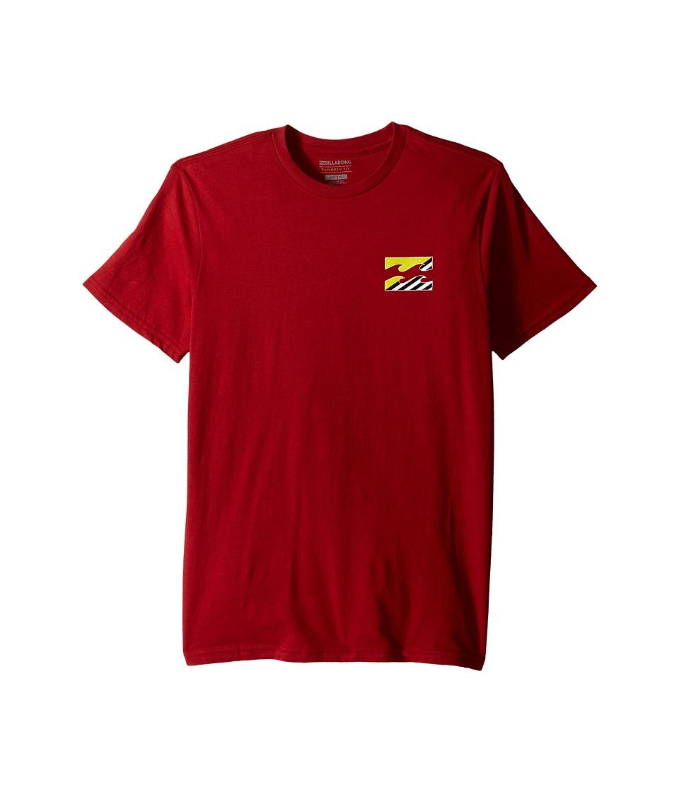 Billabong Kids - Monstro T-Shirt (Big Kids) (Red) Boy