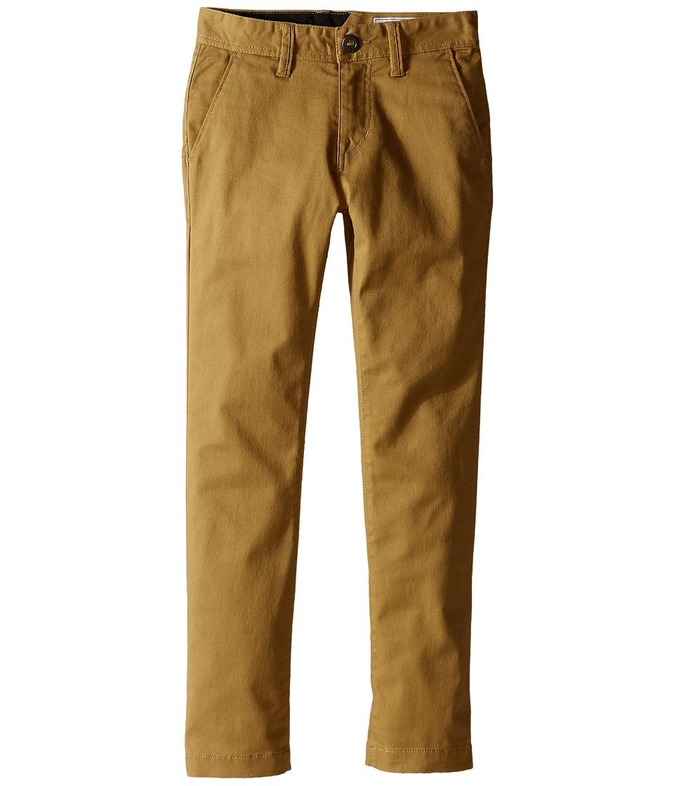 Volcom Kids - Frickin Modern Stretch Chino Pants (Big Kids) (Dark Khaki) Boy's Casual Pants