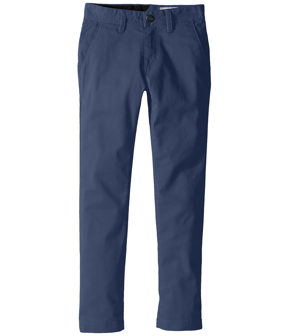 Volcom Kids - Frickin Modern Stretch Chino Pants (Big Kids) (Grey Blue) Boy's Casual Pants