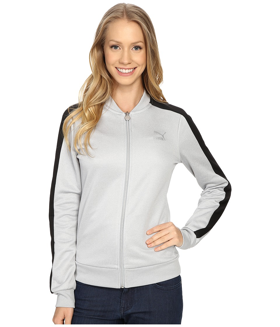 PUMA - No. 1 Logo Track Jacket (Light Gray Heather/Black) Women's Coat