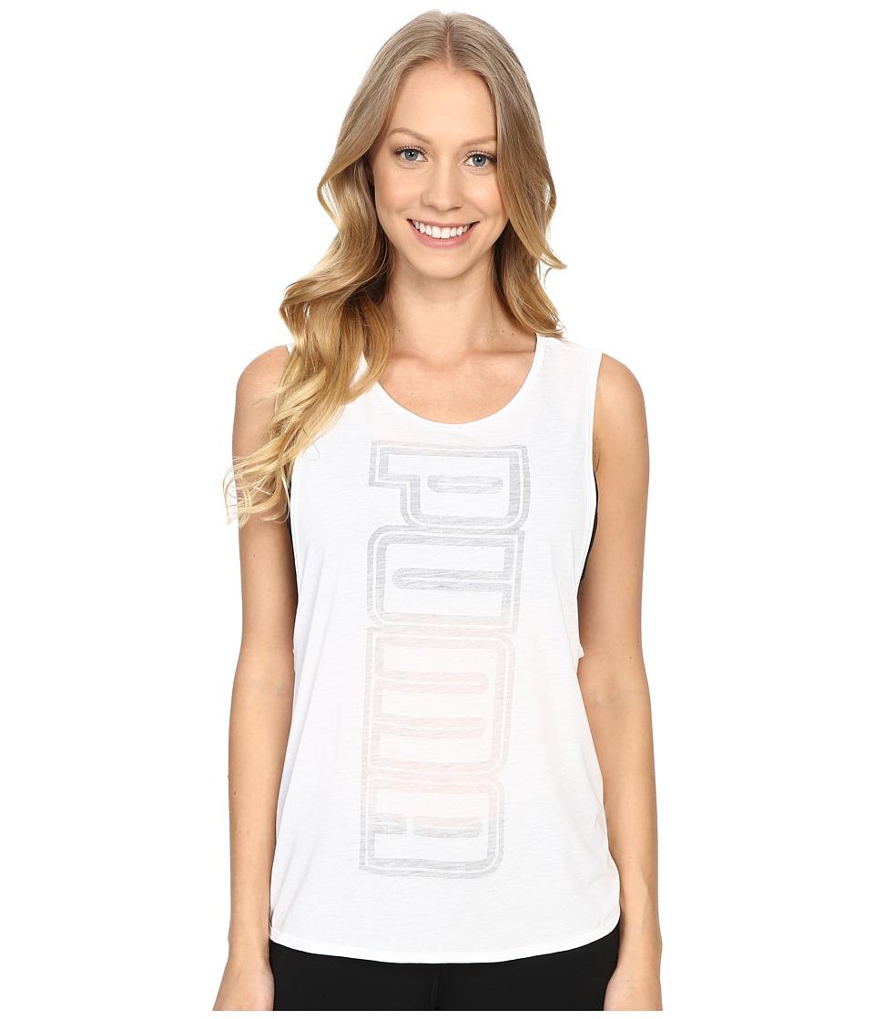 PUMA - Layer Tank (White) Women's Sleeveless
