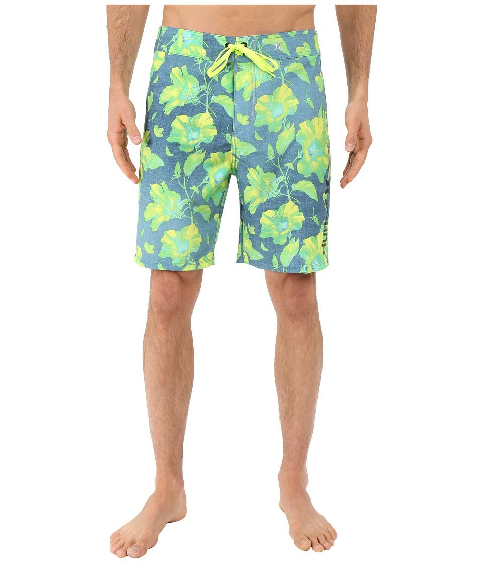 Hurley Phantom Flora 19 Boardshorts (Hyper Jade) Men