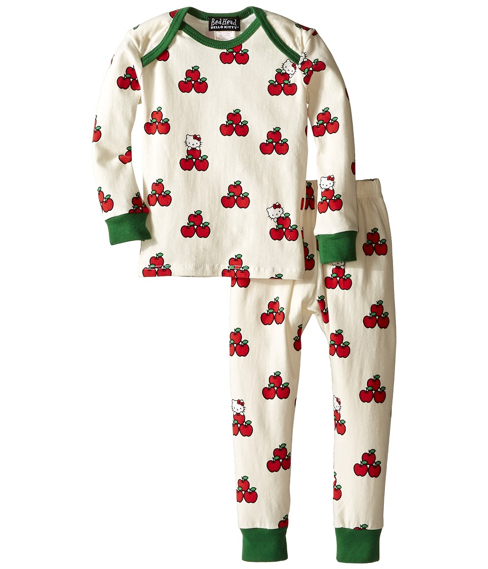 BedHead Kids - Long Sleeve Baby Tee Pant Set (Infant) (Hello Kitty Apples) Girl's Pajama Sets