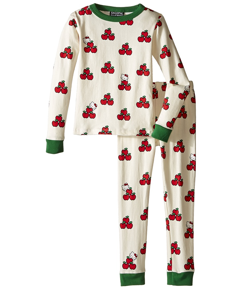 BedHead Kids - Long Sleeve Two-Piece PJ Set (Toddler/Little Kids) (Hello Kitty Apples) Girl
