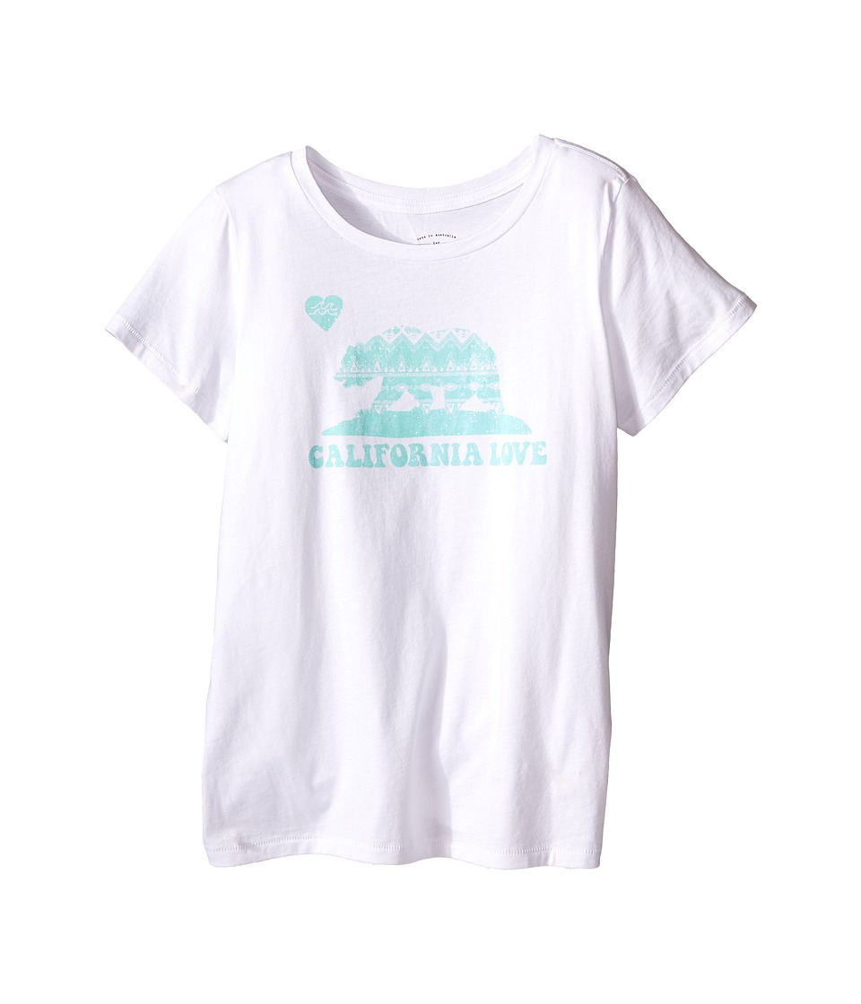 Billabong Kids - Cali Bear Swing Tee (Little Kids/Big Kids) (White) Girl's T Shirt