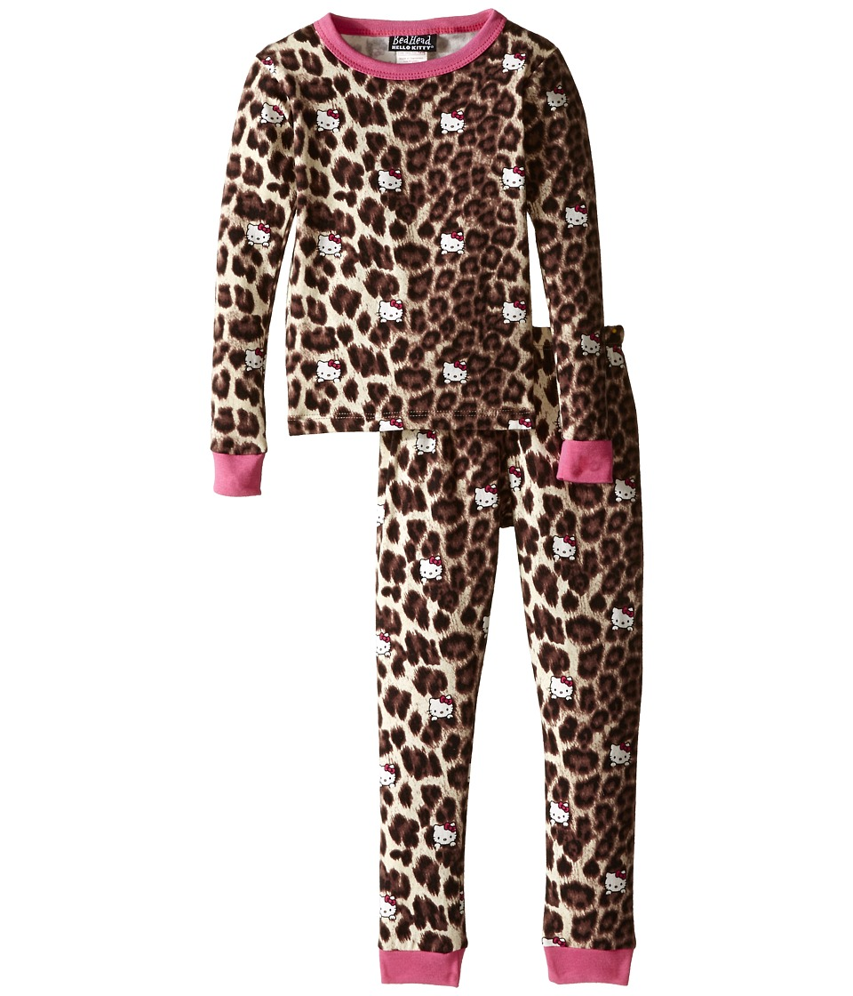BedHead Kids - Long Sleeve Two-Piece PJ Set (Toddler/Little Kids) (Hello Kitty Leopard) Girl