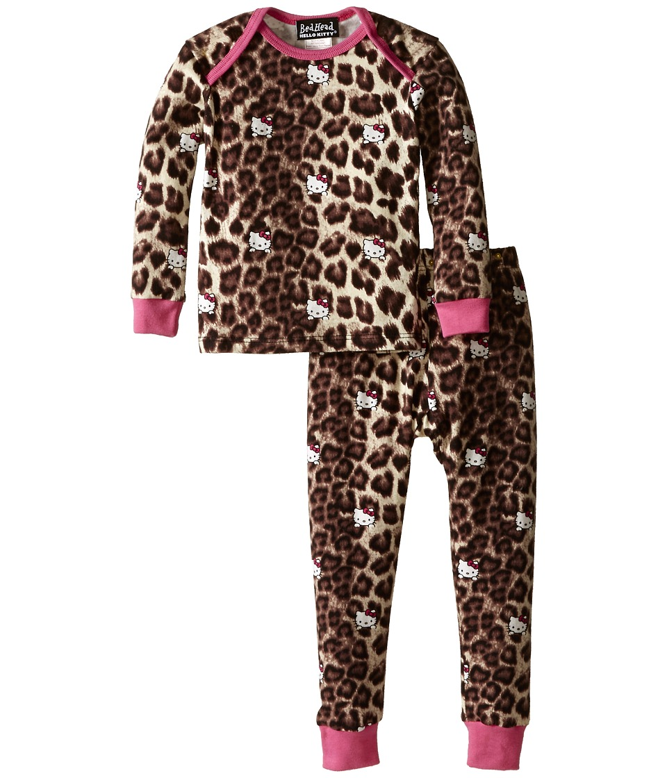 BedHead Kids - Long Sleeve Baby Tee Pant Set (Infant) (Hello Kitty Leopard) Girl's Pajama Sets