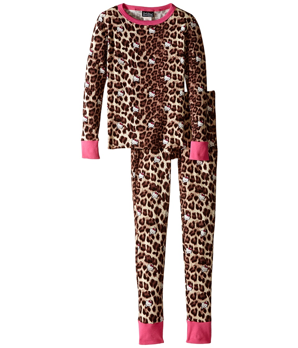 BedHead Kids - Tween Snug Fit Classic PJ (Big Kids) (Hello Kitty Leopard) Girl's Pajama Sets