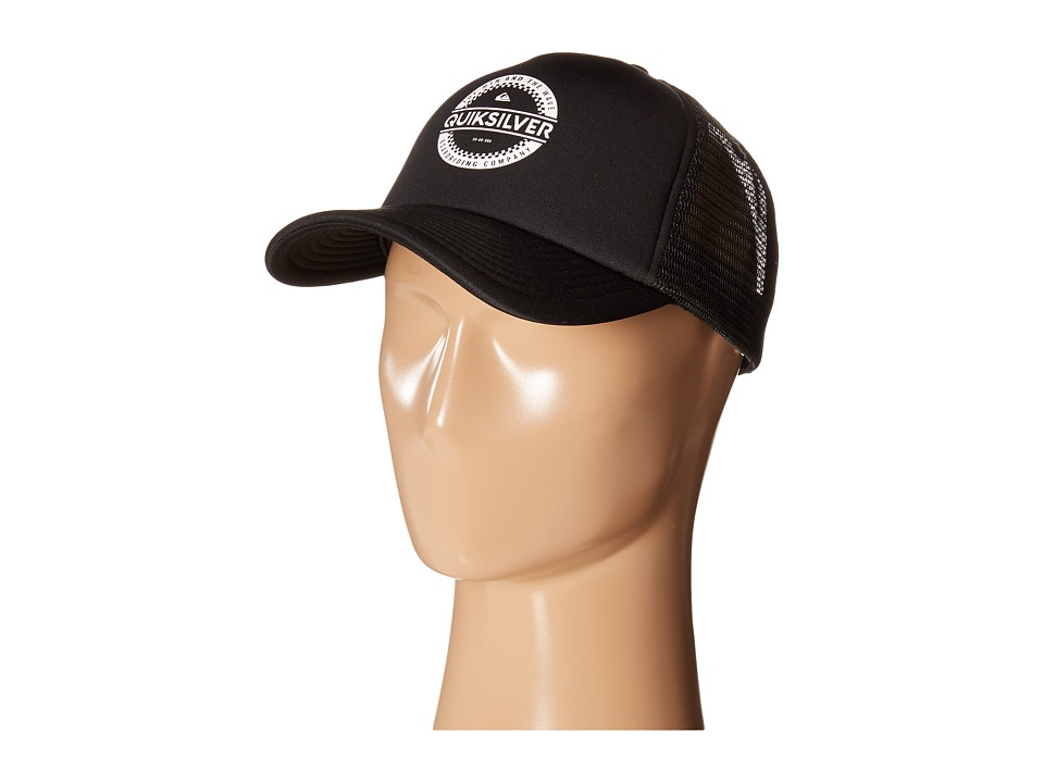 Quiksilver - Everyday 3 Trucker Hat (Black) Baseball Caps
