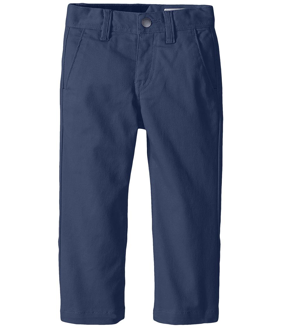 Volcom Kids - Frickin Modern Stretch Chino Pants (Toddler/Little Kids) (Grey Blue) Boy's Casual Pants