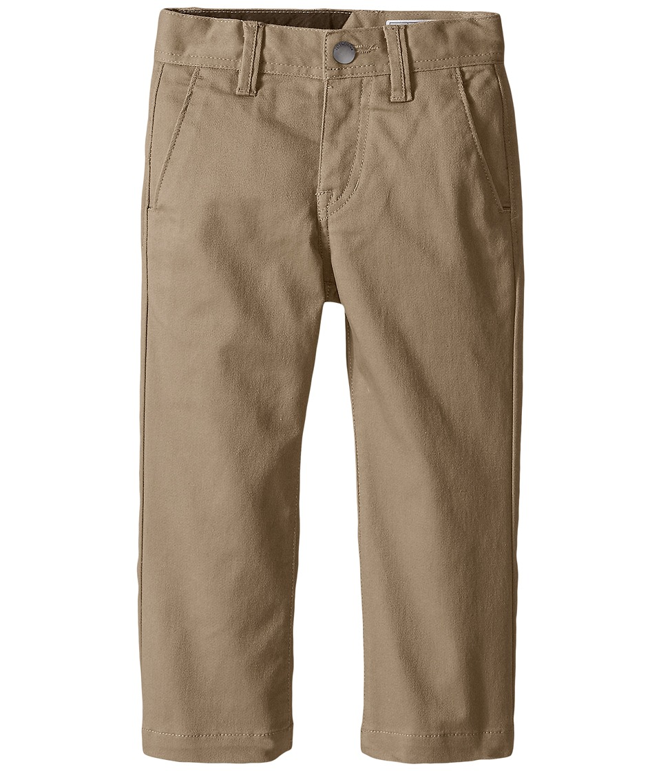 Volcom Kids - Frickin Modern Stretch Chino Pants (Toddler/Little Kids) (Khaki) Boy's Casual Pants