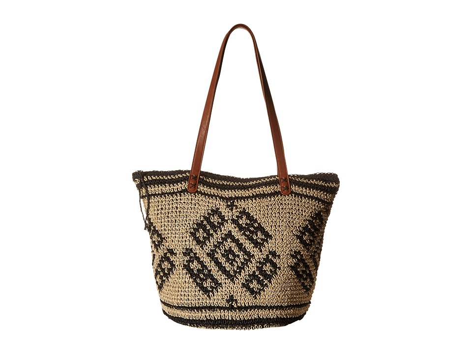 Billabong - East of Dover Tote (Off Black) Tote Handbags
