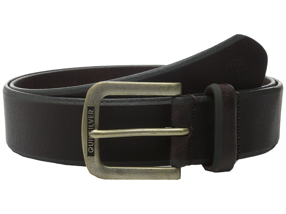 Quiksilver - On The Edge Belt (Chocolate) Men's Belts