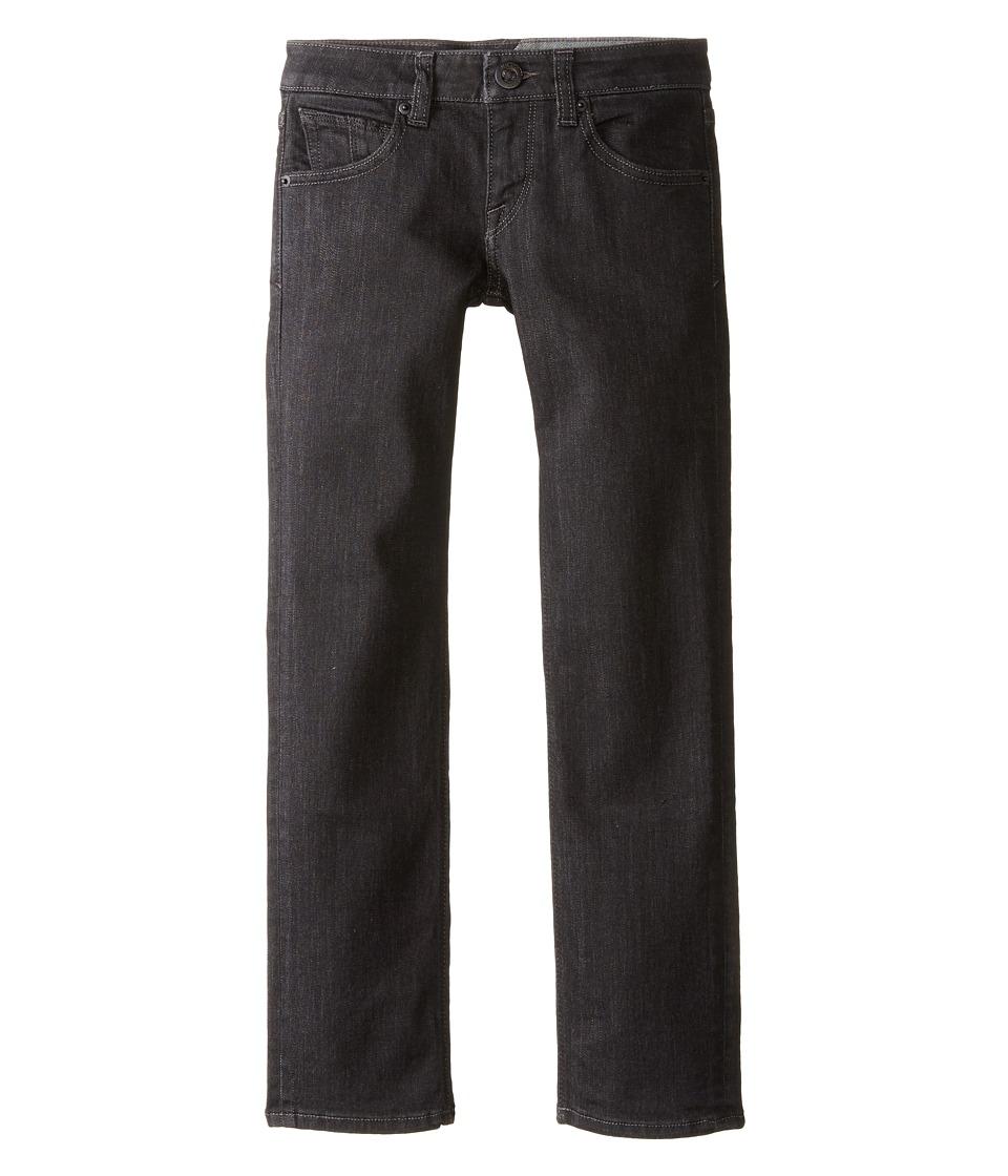 Volcom Kids - Vorta By Denim (Big Kids) (Black Rinser) Boy's Jeans