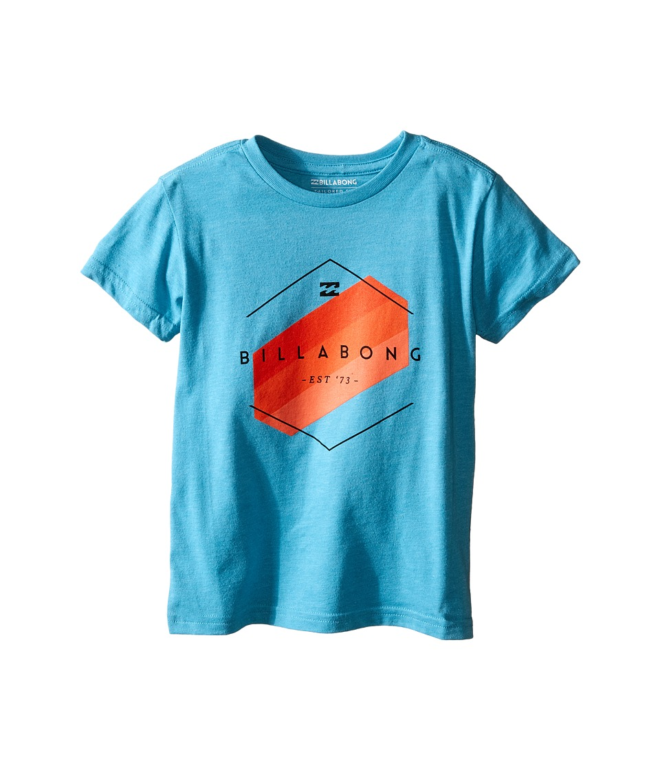 Billabong Kids - Obstacle T-Shirt (Toddler/Little Kids) (Aqua Heather) Boy's T Shirt