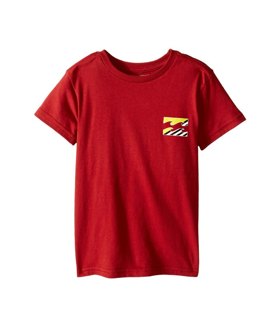 Billabong Kids - Monstro T-Shirt (Toddler/Little Kids) (Red) Boy