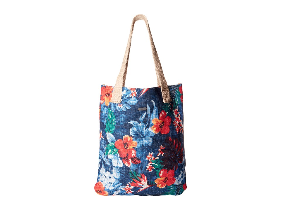 Roxy - Another Spot Beach Bag (Hawaiian Tropical Sportwear Combo/Dazzling Blue) Tote Handbags