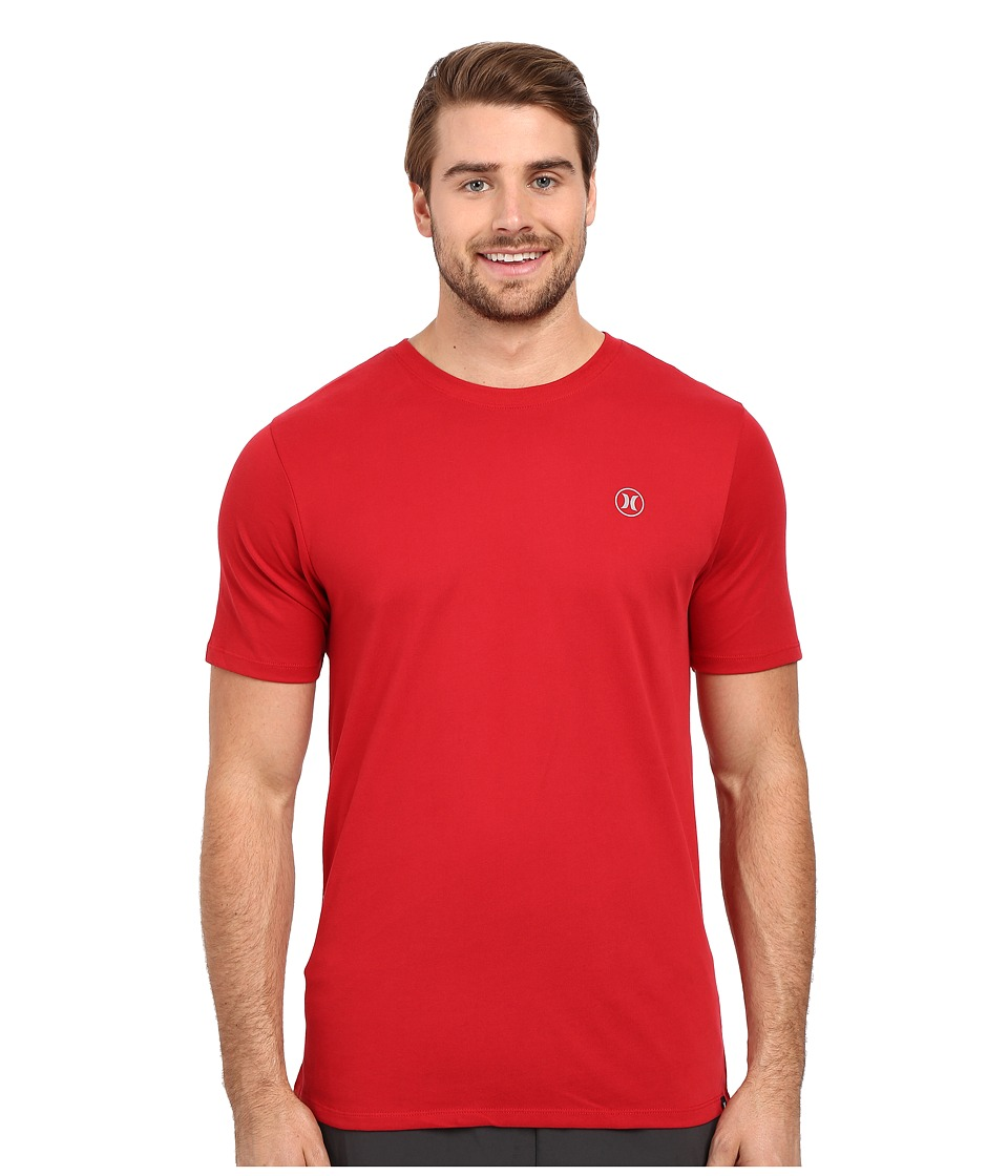 Hurley Staple Dri-Fit Tee Gym Red Mens Short Sleeve Pullover