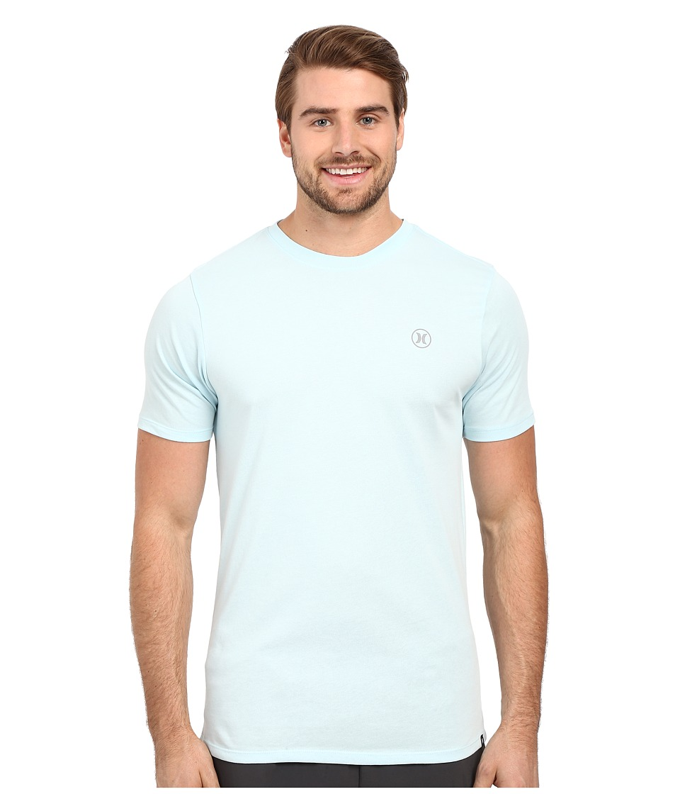 Hurley - Staple Dri-Fit Tee (Ice Cube Blue) Men's Short Sleeve Pullover