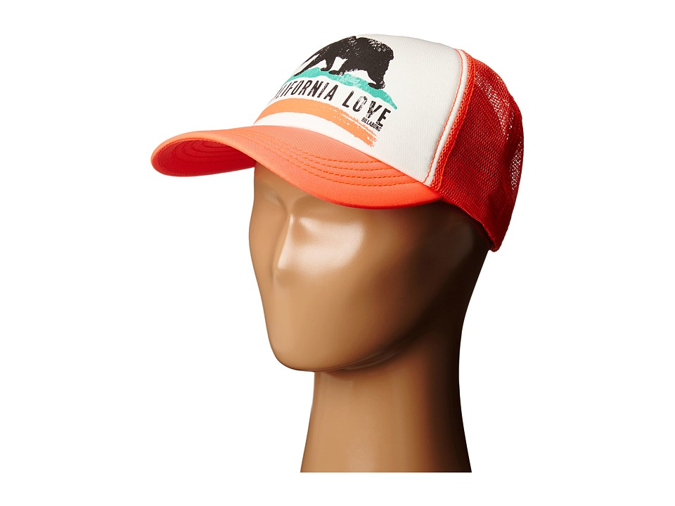 Billabong - Pitstop Hat (Neon Coral) Caps
