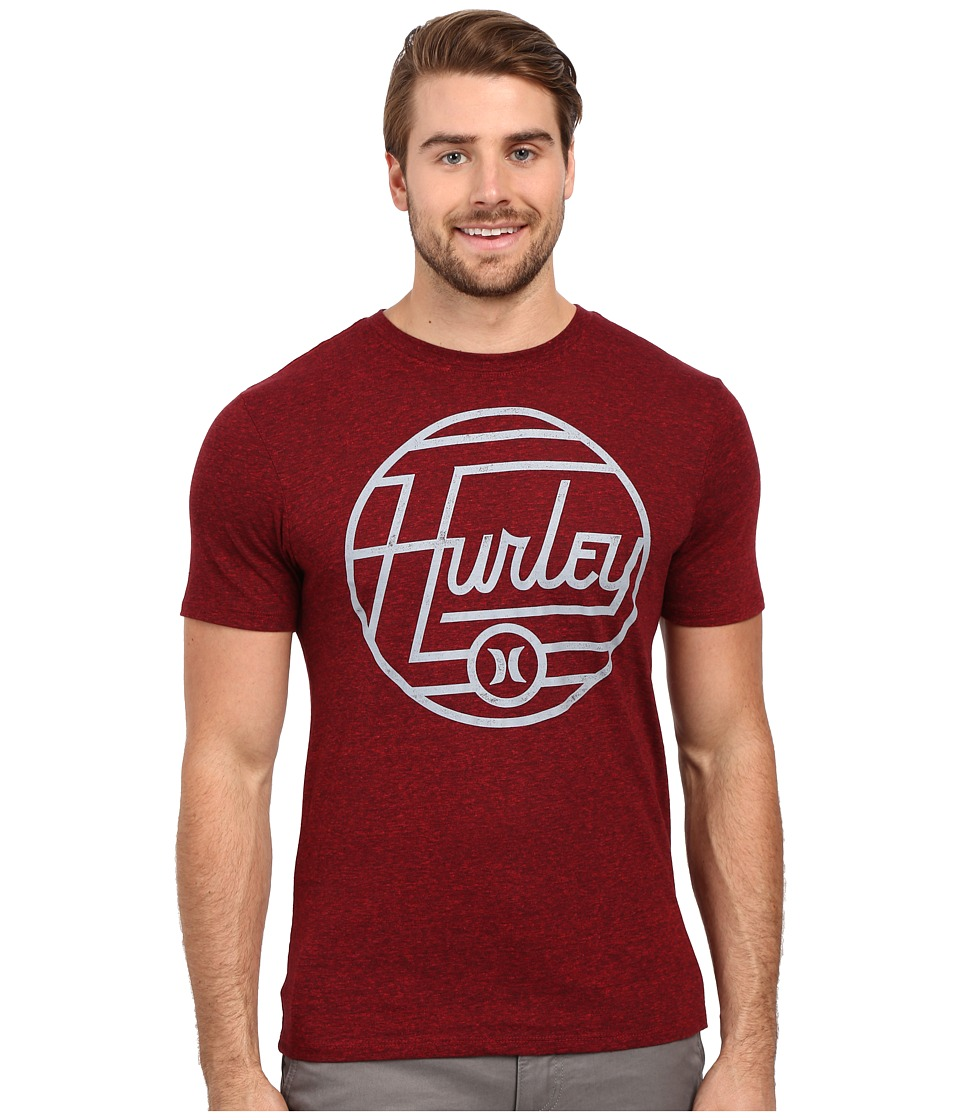 Hurley Wavelength Tri-Blend Tee (Gym Red/Black) Men