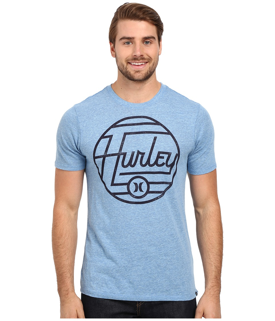 Hurley Wavelength Tri-Blend Tee (Ice Cube/Fountain Blue) Men
