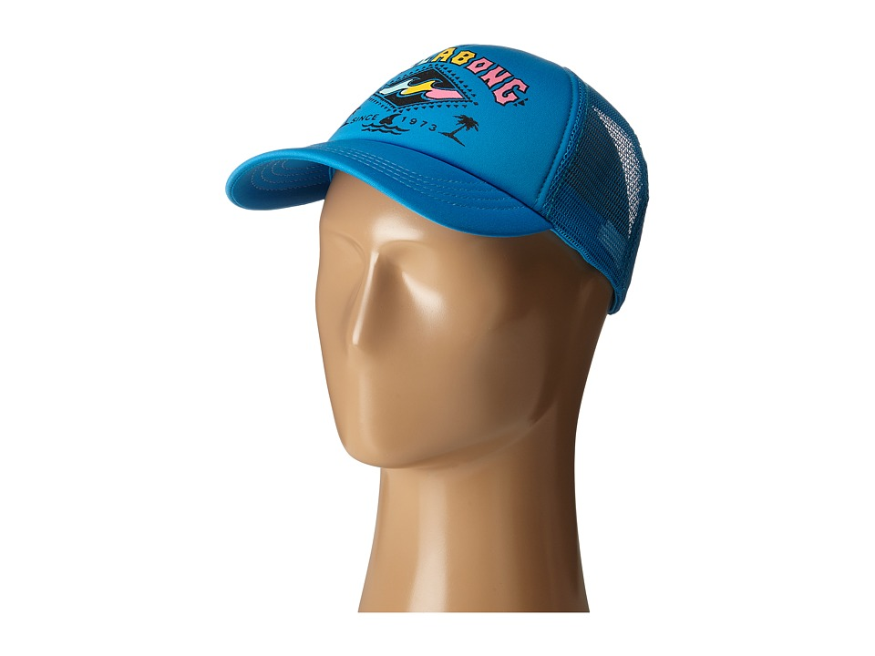 Billabong - Retro Logo Trucker Hat (Fiji Blue) Caps