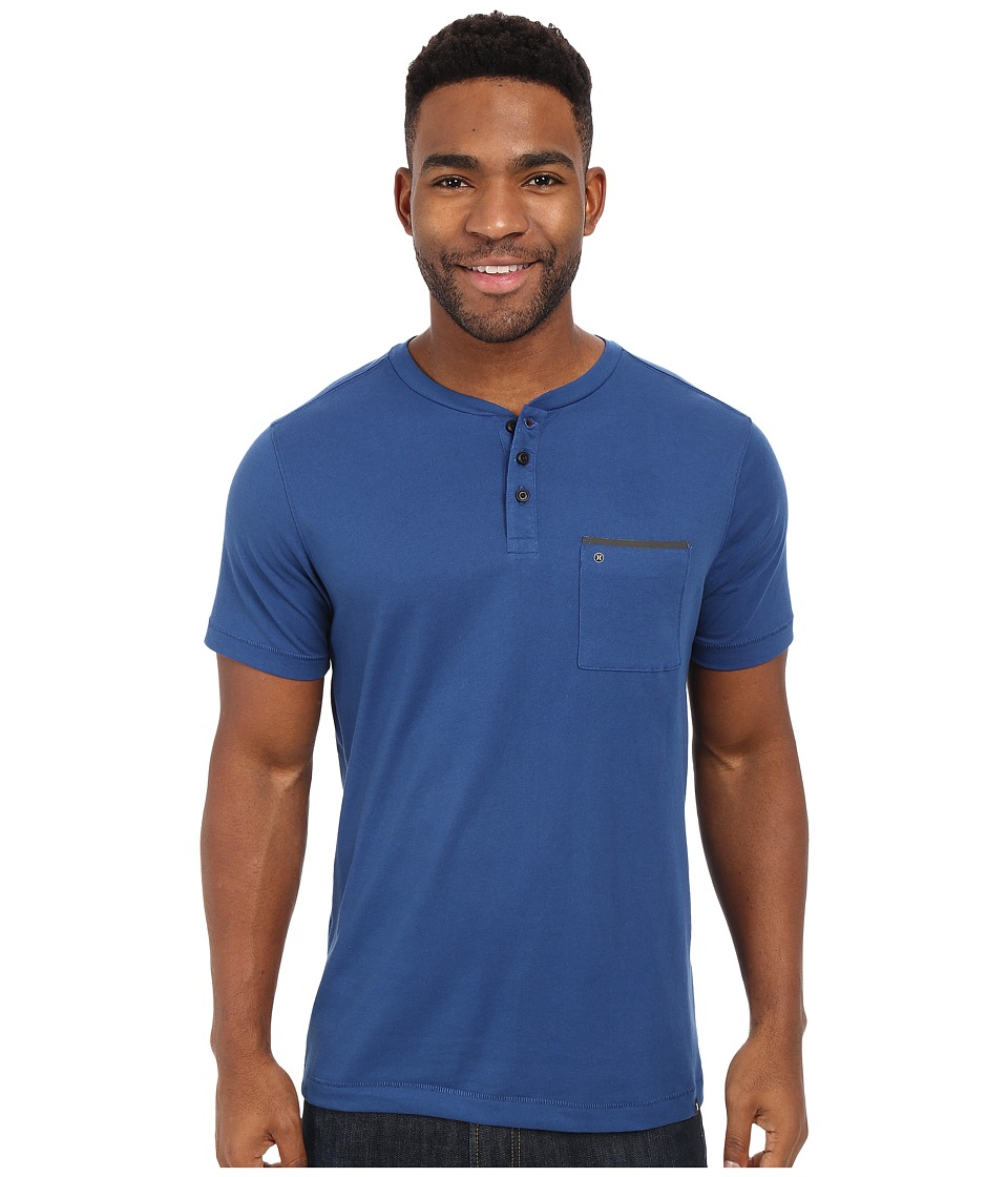 Hurley Dri-Fit Henley (Coastal Blue) Men