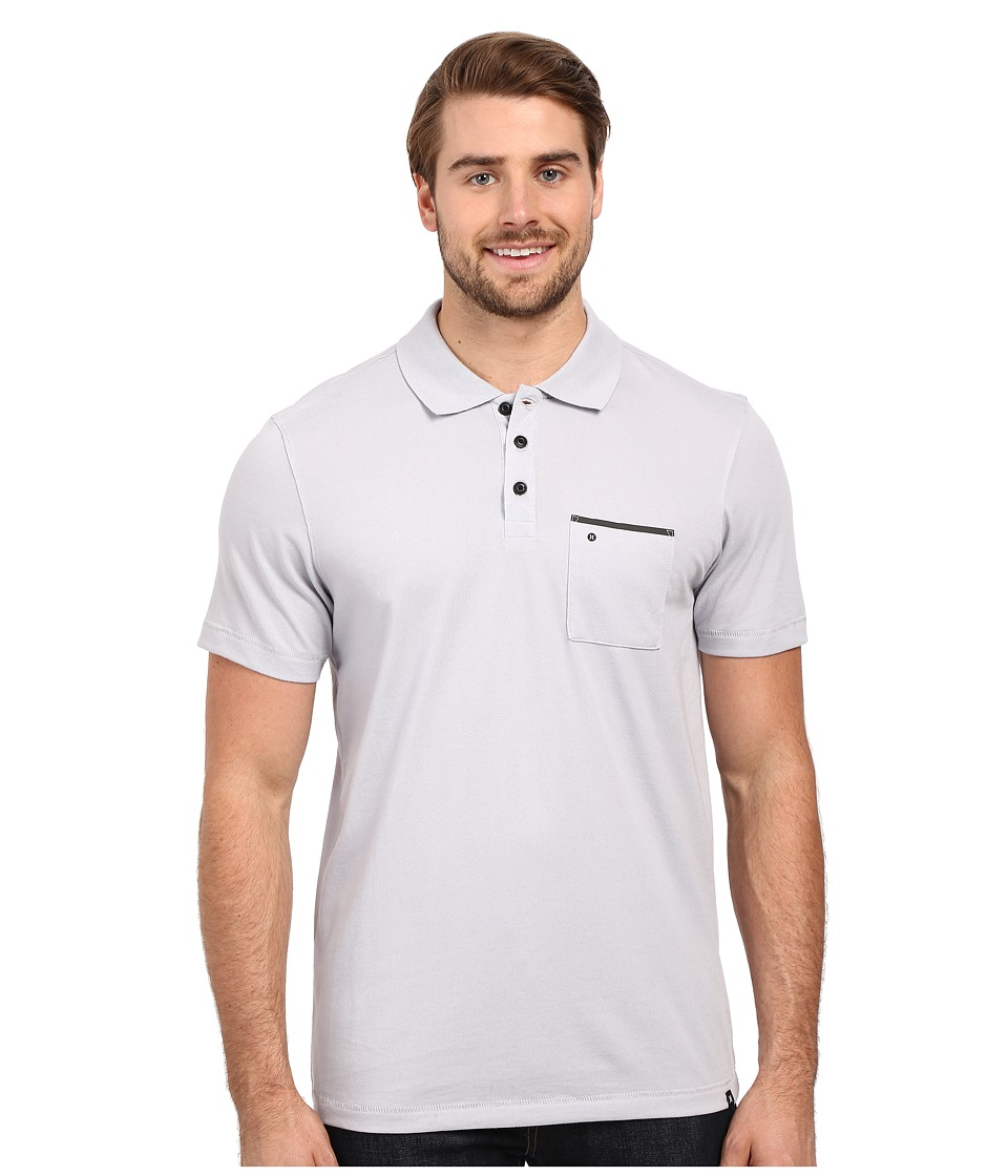 Hurley - Dri-Fit Lagos Polo (Wolf Grey) Men's Clothing