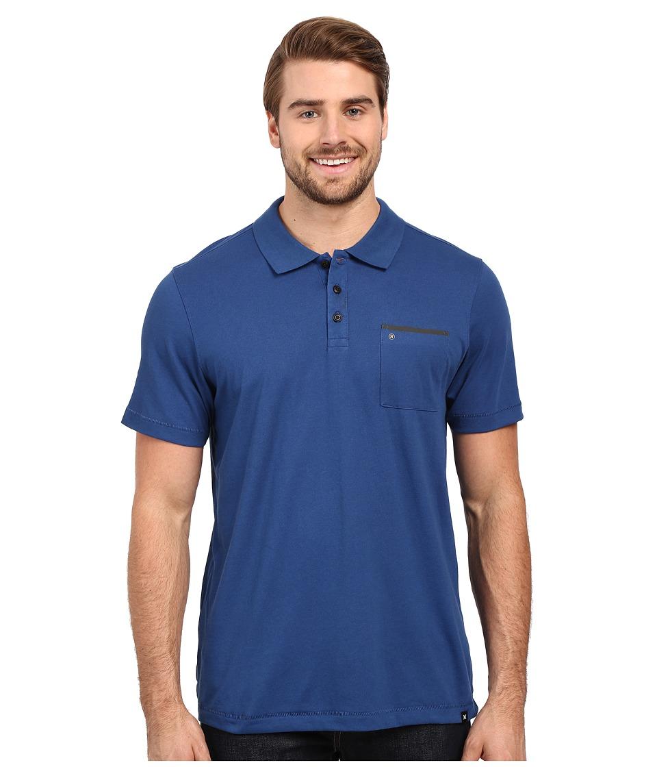 Hurley - Dri-Fit Lagos Polo (Coastal Blue) Men's Clothing