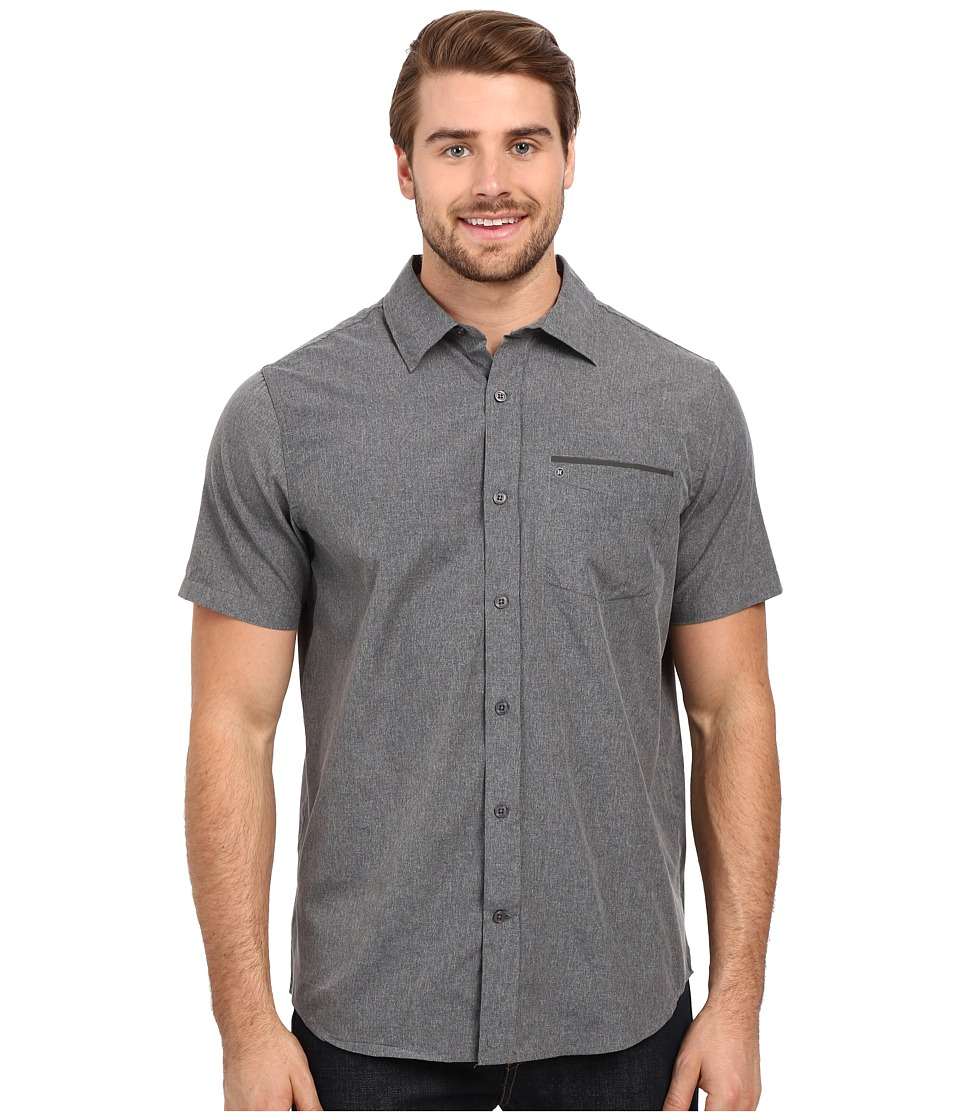 Hurley - Dri-Fit One and Only Woven (Black) Men's Short Sleeve Button Up