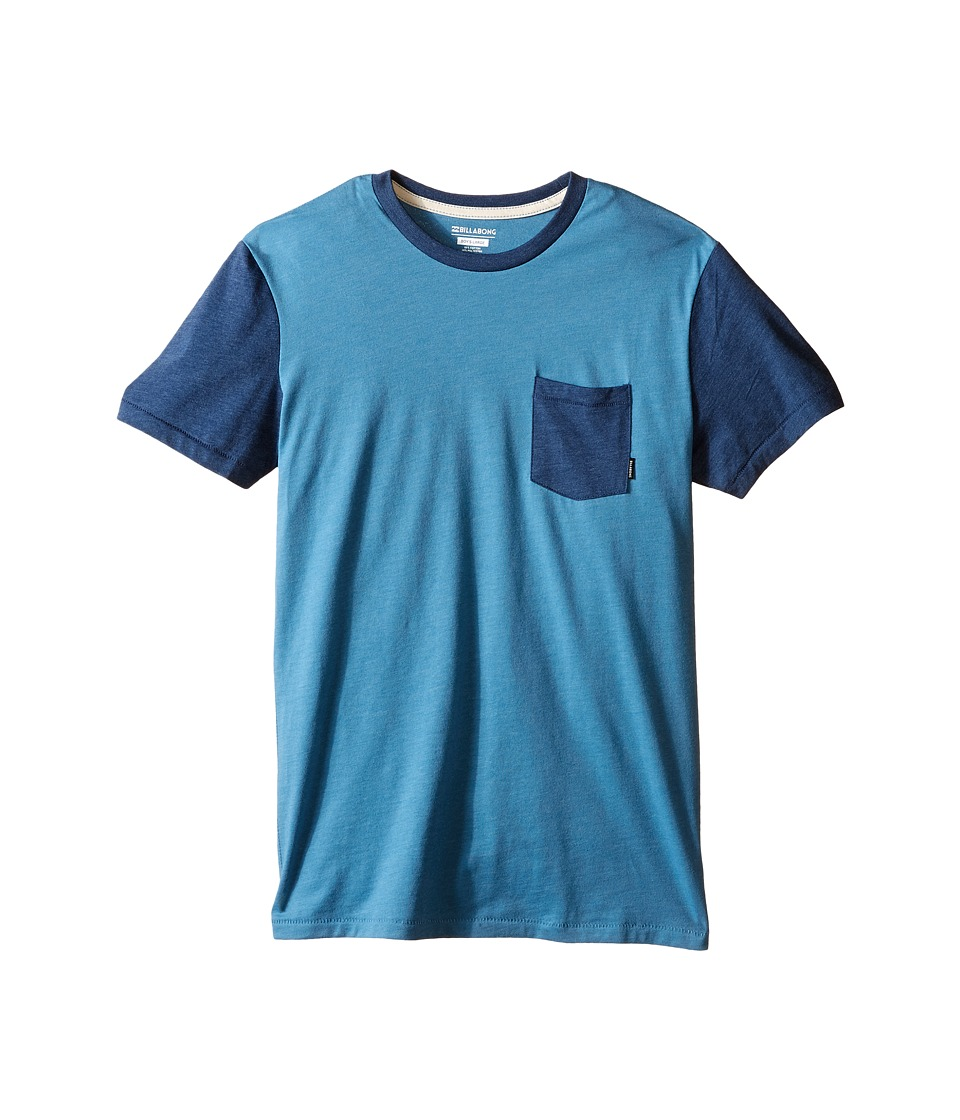 Billabong Kids - Zenith Short Sleeve Crew (Big Kids) (Blue Heather) Boy's T Shirt