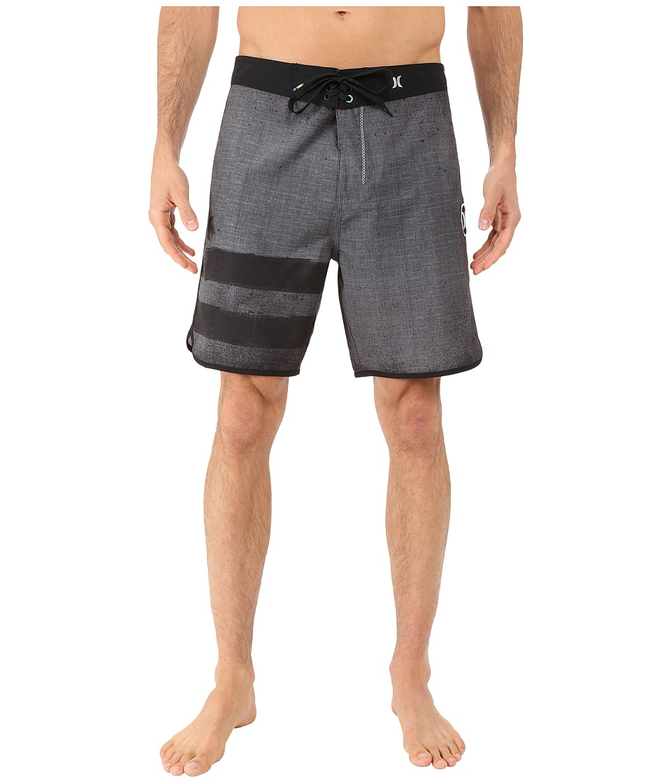 Hurley - Phantom Block Party Ink Boardshorts (Black) Men's Swimwear