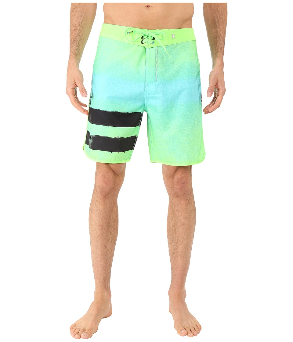 Hurley - Phantom Block Party Ink Boardshorts (Hyper Jade) Men's Swimwear
