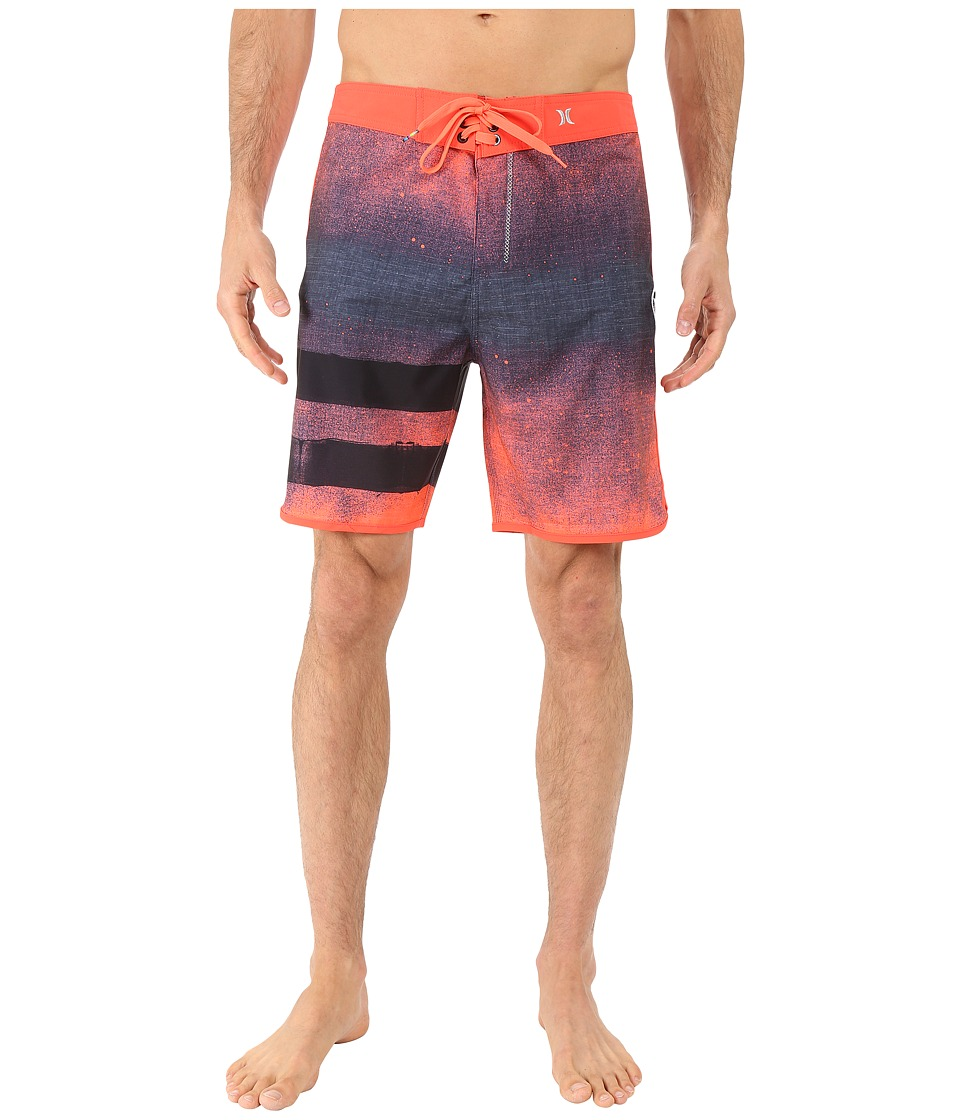 Hurley - Phantom Block Party Ink Boardshorts (Bright Crimson) Men's Swimwear