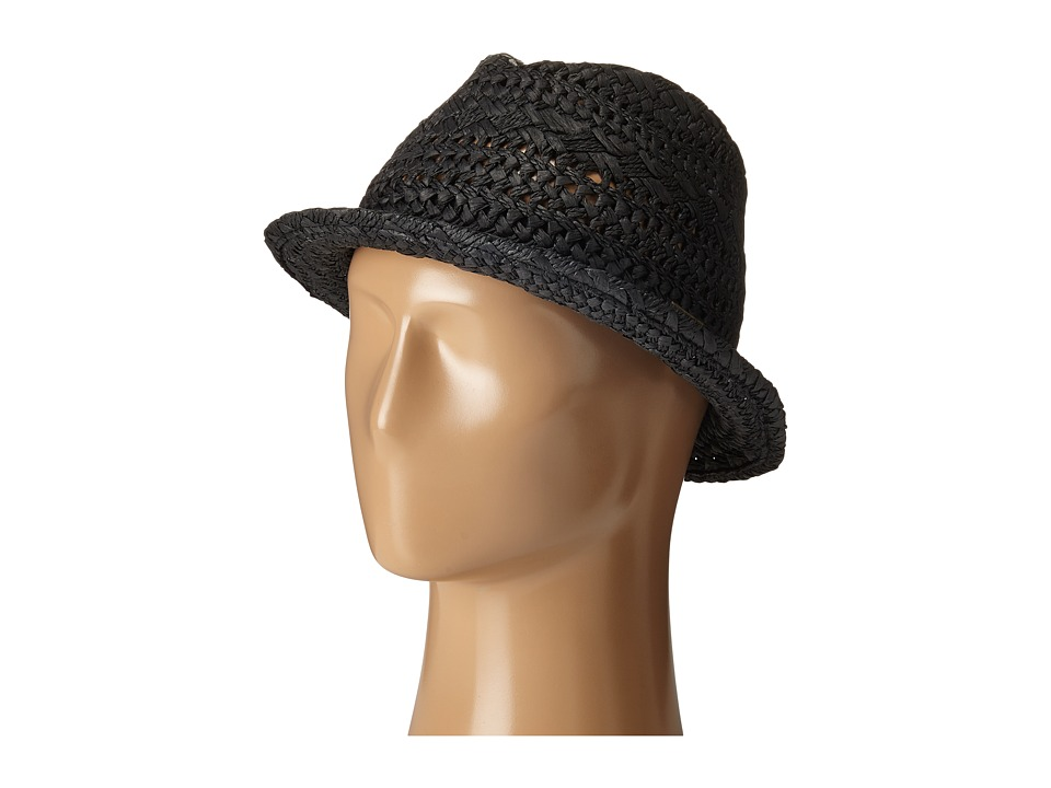 Billabong - Sweetest Jane Straw Fedora (Off Black) Traditional Hats
