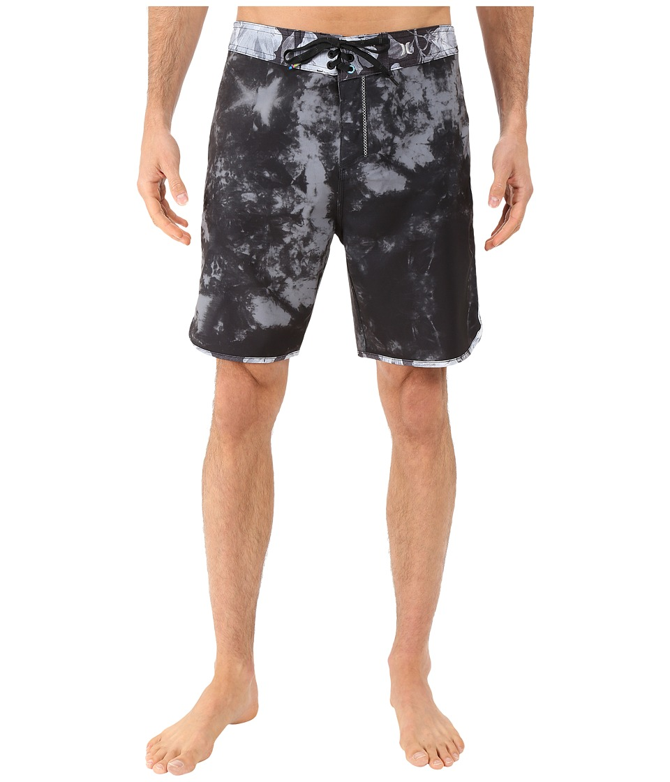 Hurley - Phantom Shibori Boardshorts (Black) Men's Swimwear