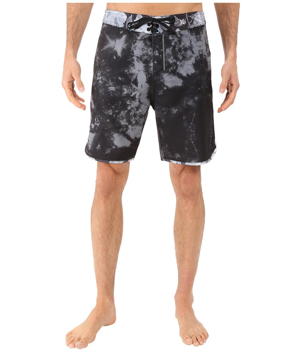 Hurley - Phantom Shibori Boardshorts (Black) Men's Swimwear
