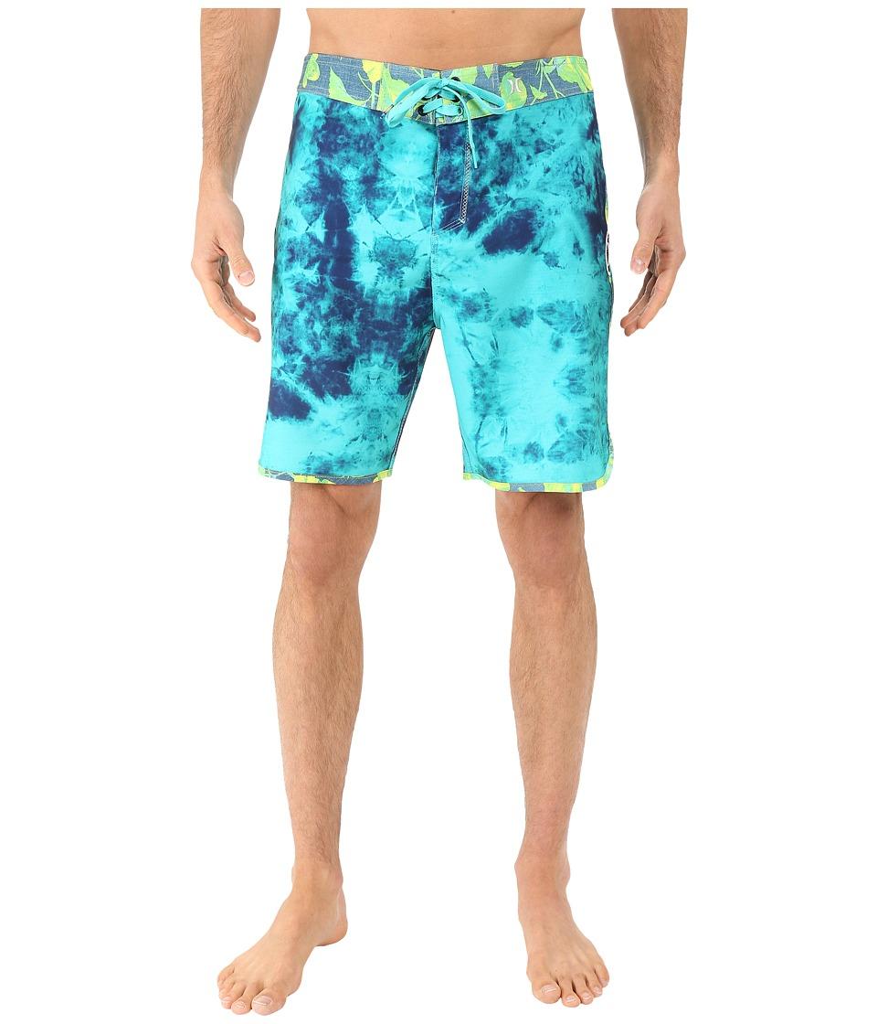 Hurley - Phantom Shibori Boardshorts (Hyper Jade) Men's Swimwear