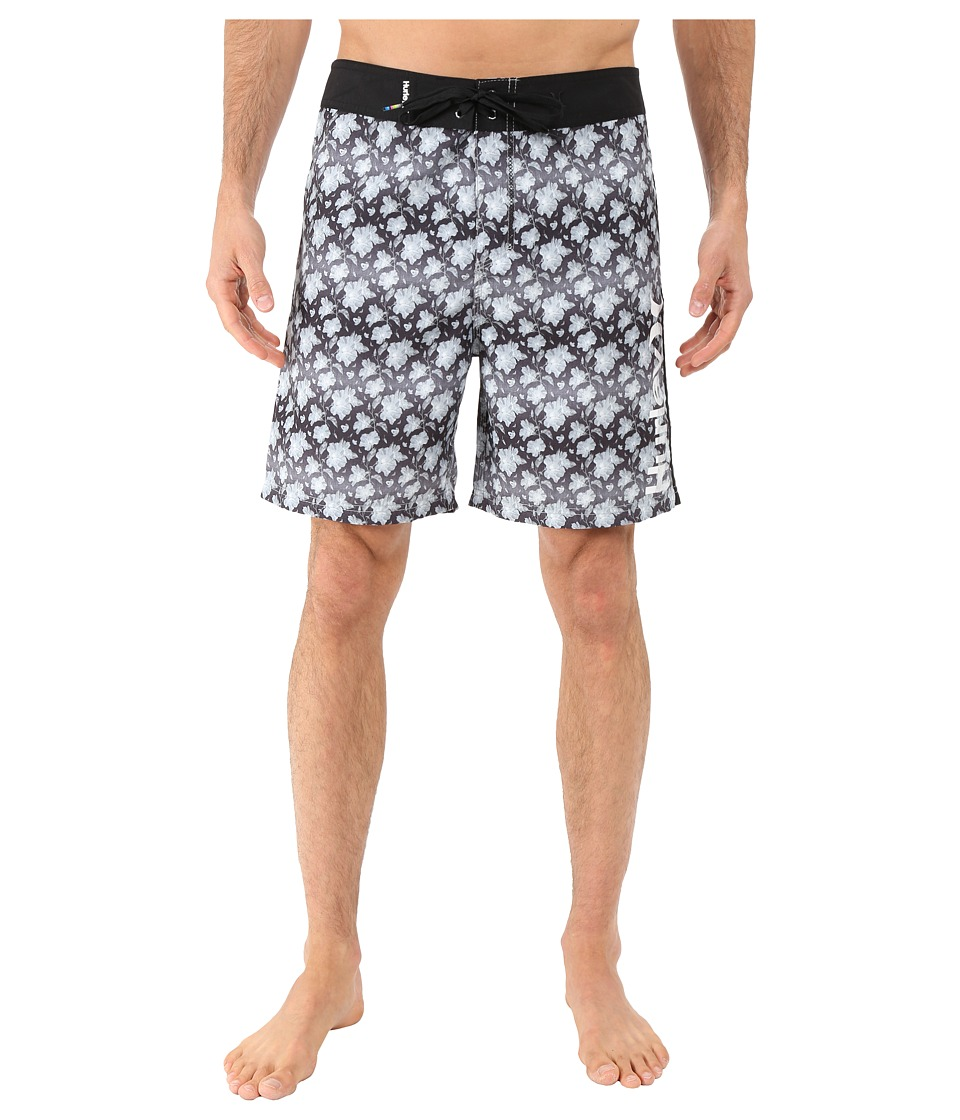 Hurley - Micro 19 Boardshorts (Black) Men's Swimwear