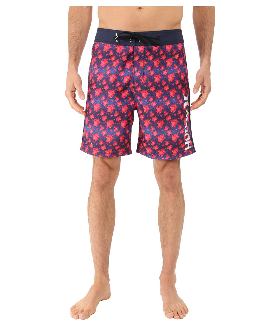 Hurley Micro 19 Boardshorts (Bright Crimson) Men
