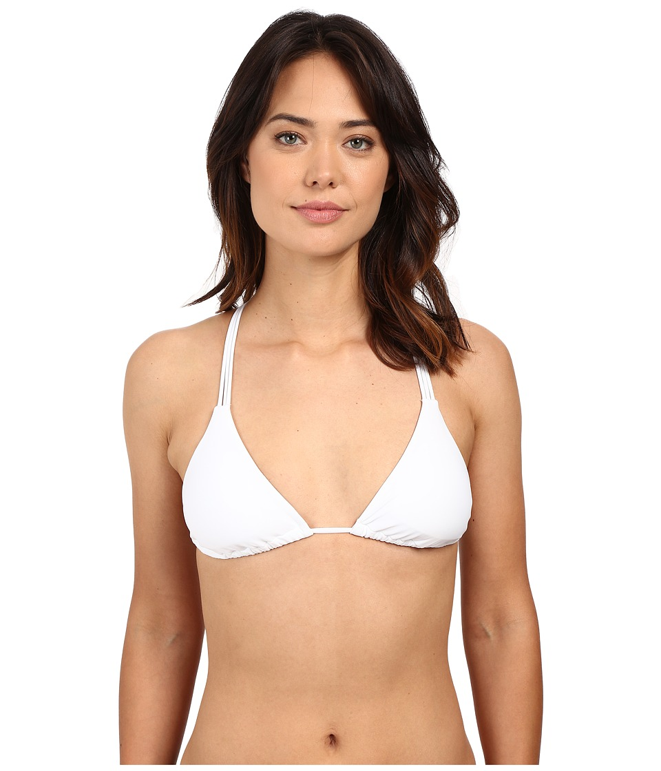 Body Glove - Smoothies Oasis Triangle Slider Top (White) Women's Swimwear