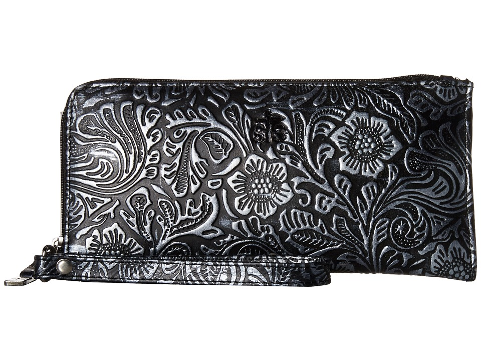 STS Ranchwear - STS Floral Embossed Clutch/Wallet (Black Floral) Wallet Handbags