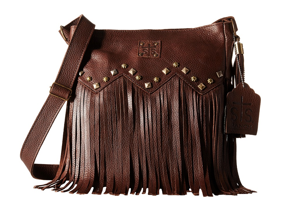 STS Ranchwear - The Boho Crossbody (Dark Brown) Cross Body Handbags